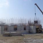 Заливка стен цокольного этажа Морского Собора
