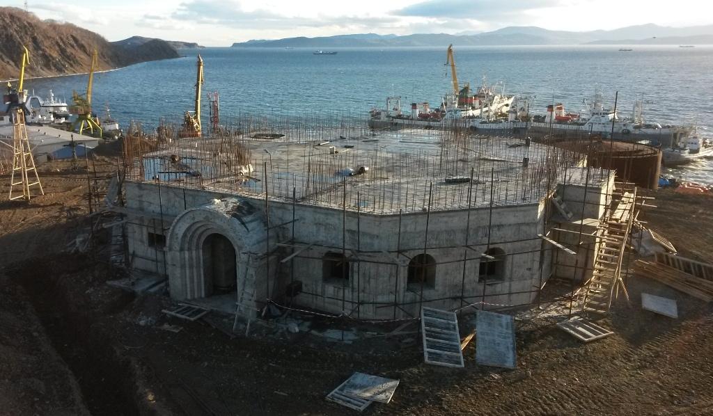 1 год с начала строительства Камчатского Морского Собора - Камчатский Морской Собор