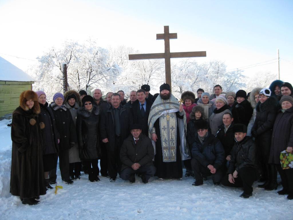 Чин освящения Креста на месте строительства храма
