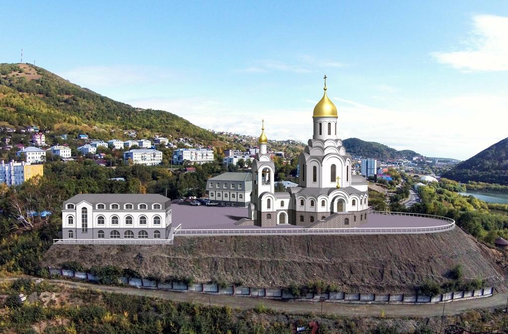 Эскиз храмового комплекса Камчатского Морского Собора