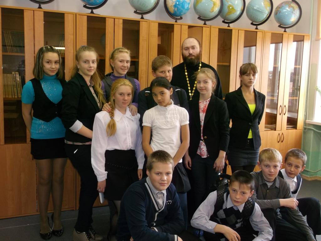 Беседа о нравственности с учащимися 6-го класса Соболевской школы