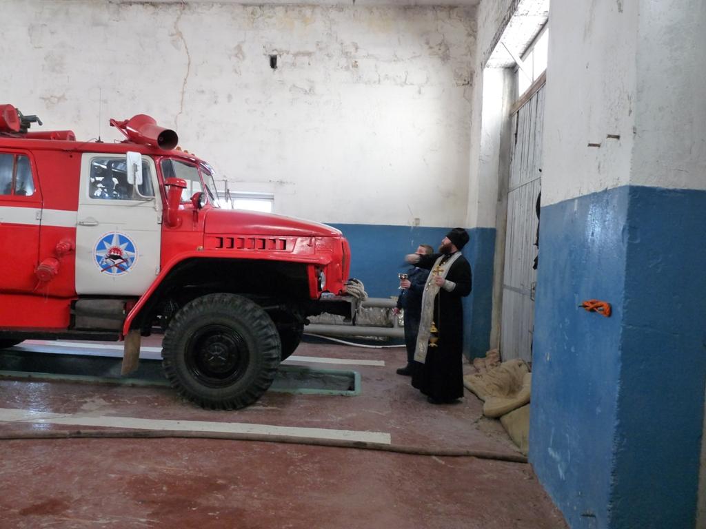 Освящение пожарной части МЧС с. Устьевое