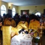 Мощи великомучеников Варвары и Димитрия Солунского в монастыре