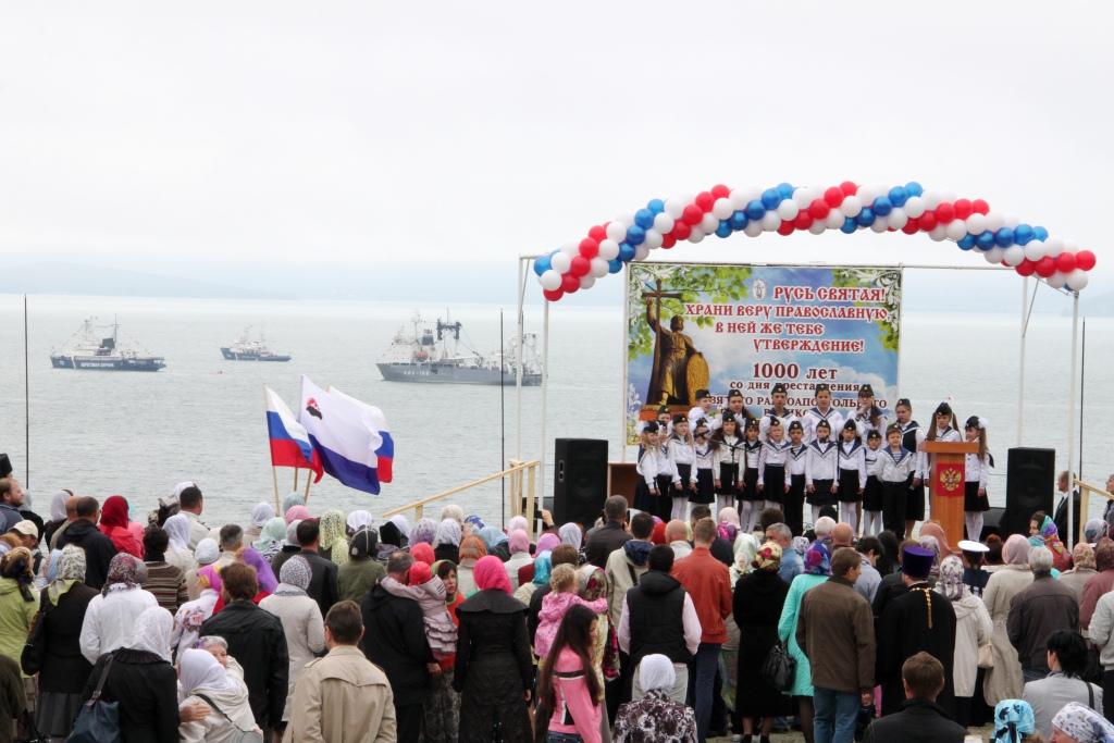 Торжества по случаю освящения нижнего храма Камчатского морского собора