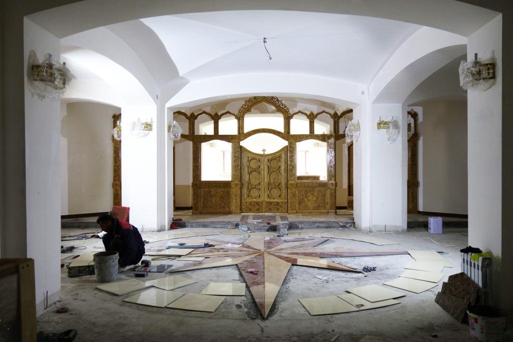 Накануне освящения нижнего храма Камчатского морского собора