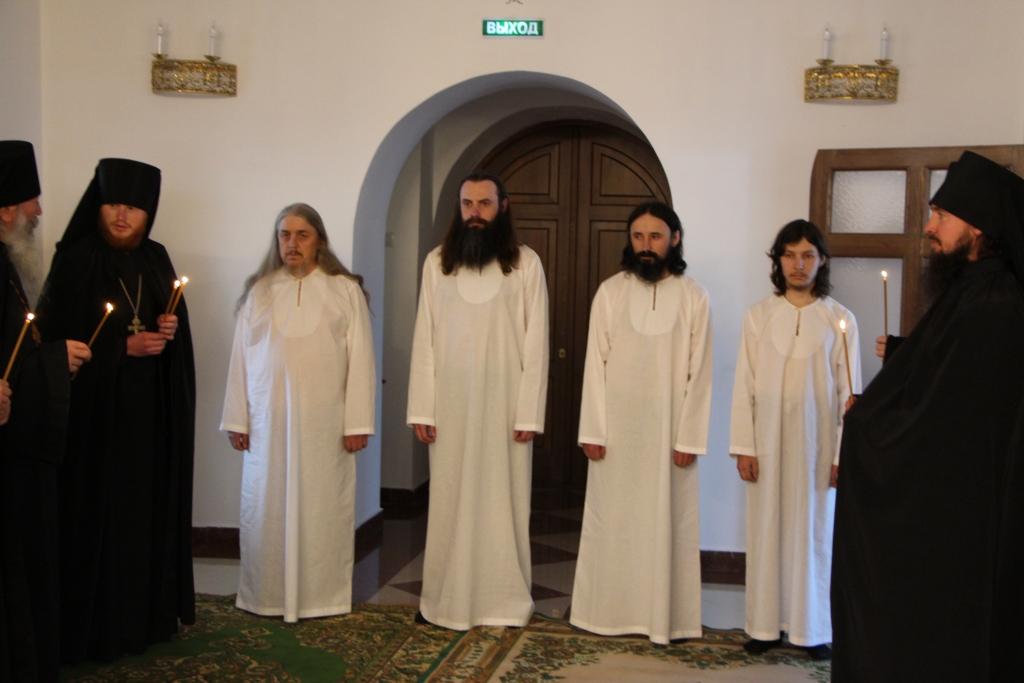 Постриг в Свято-Пантелеимоновом мужском монастыре