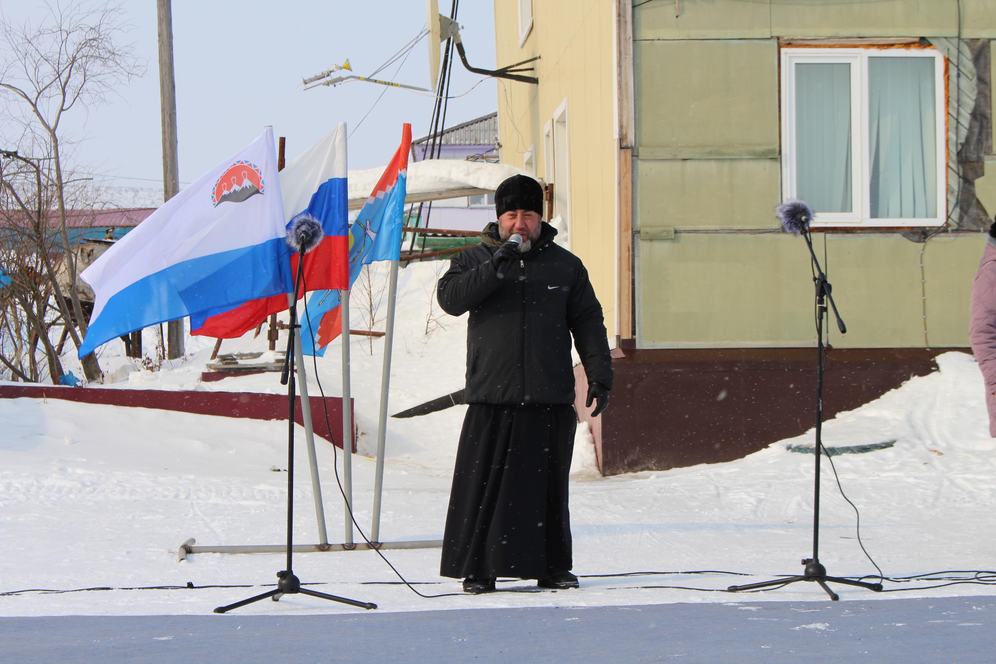 Выступление перед жителями села Каменское