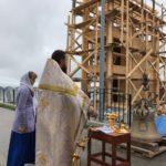 Начало строительства колокольни в с. Ивашка Карагинского района