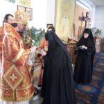 Епископ Феодор поздравил игуменью Александру и сестер Свято-Казанской обители