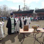 Епископ Вилючинский Феодор совершил освящение трех кораблей на вилючинской судоремонтной верфи