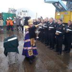 Епископ Феодор освятил новый корабль ВМФ Камчатки