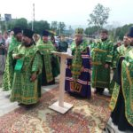 Молебен у часовни Серафима Саровского