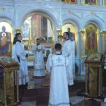 Архиепископ Феодор совершил Божественную литургию в праздник Рождества Христова в Морском соборе